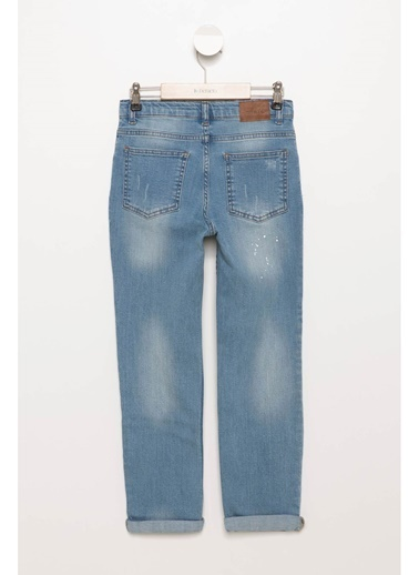 DeFacto 5 Cep Slim Fit Denim Pantolon Mavi